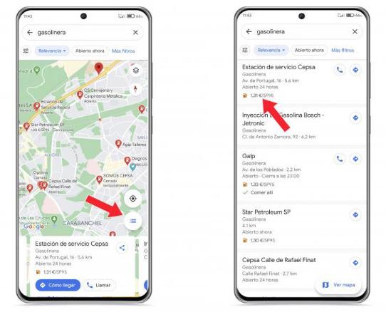 """""""Buscar gasolina barata Google Maps"""""""